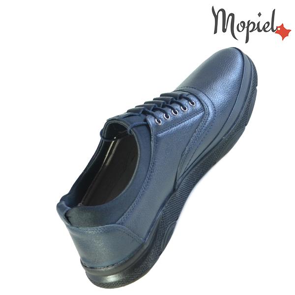 Pantofi barbati, din piele naturala 131116 Bleumarin-Bisonte Casian incaltaminte fashion