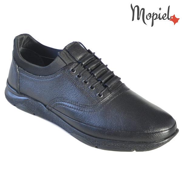 Pantofi barbati, din piele naturala 131116 Negru-Bisonte Casian incaltaminte barbati