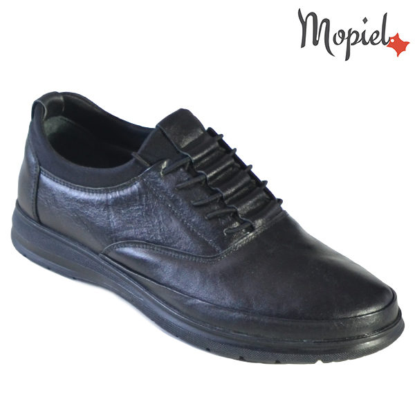 Pantofi barbati, din piele naturala 131116 Negru Casian incaltaminte barbati