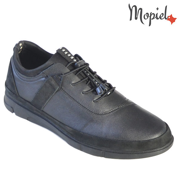Pantofi barbati, din piele naturala 131117 Negru Oliver incaltaminte barbati