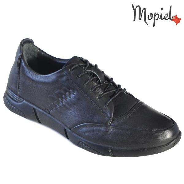Pantofi barbati, din piele naturala 131118 Negru Cosma incaltaminte ieftina
