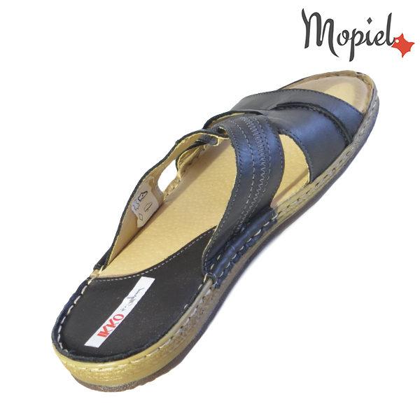 Papuci barbati din piele naturala 16601 Negru Carol incaltaminte online