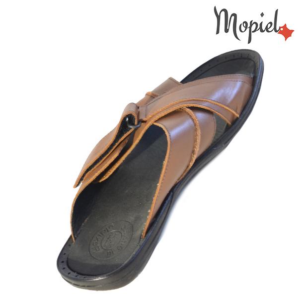 Papuci barbati din piele naturala 16603 Maro Flaviu incaltaminte ieftina