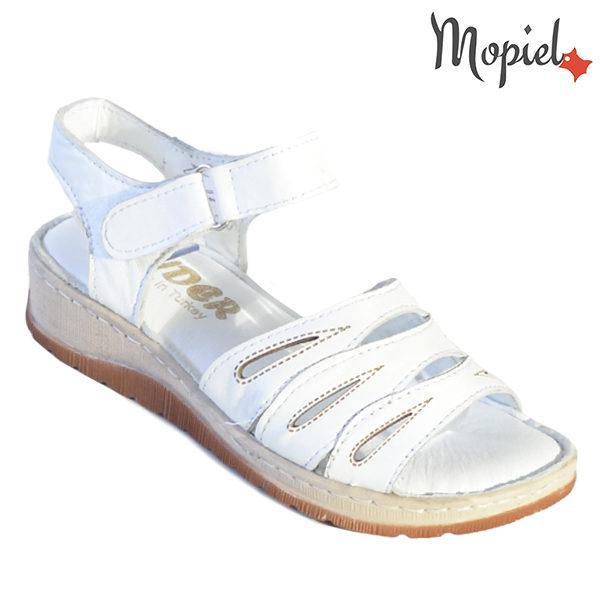 Sandale dama din piele naturala 251120 Alb Tania incaltaminte dama