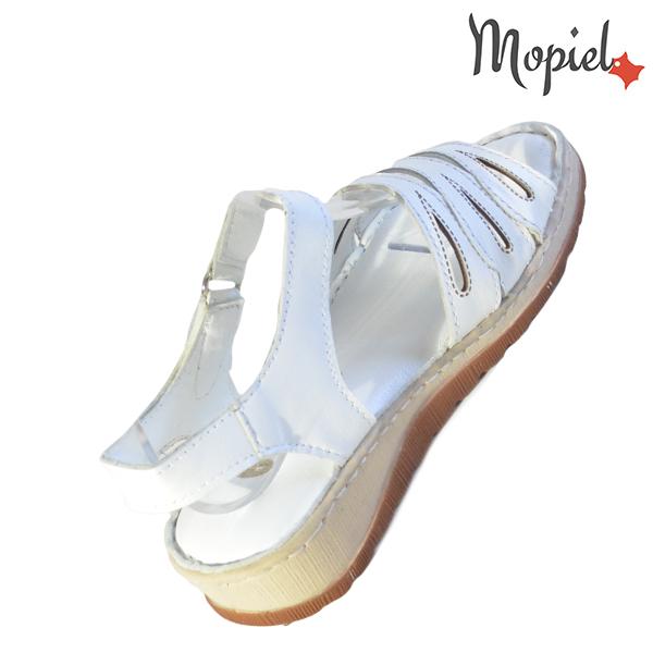 Sandale dama din piele naturala 251120 Alb Tania incaltaminte piele