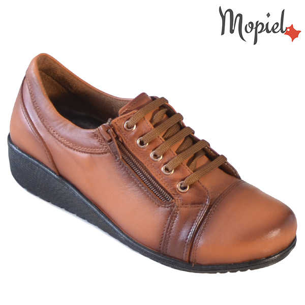 Pantofi dama, din piele naturala 231119 Tabaco Agata incaltaminte-mopiel.ro