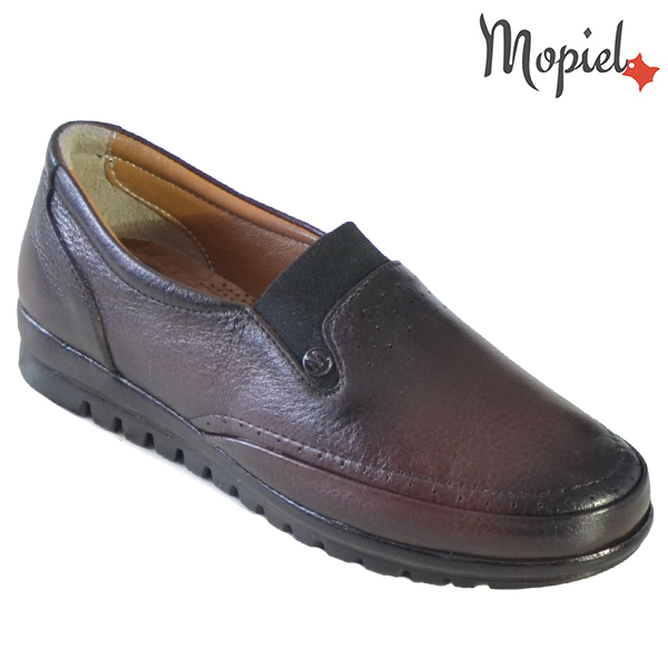 Pantofi dama, din piele naturala 231122 Bordo Fina reduceri incaltaminte