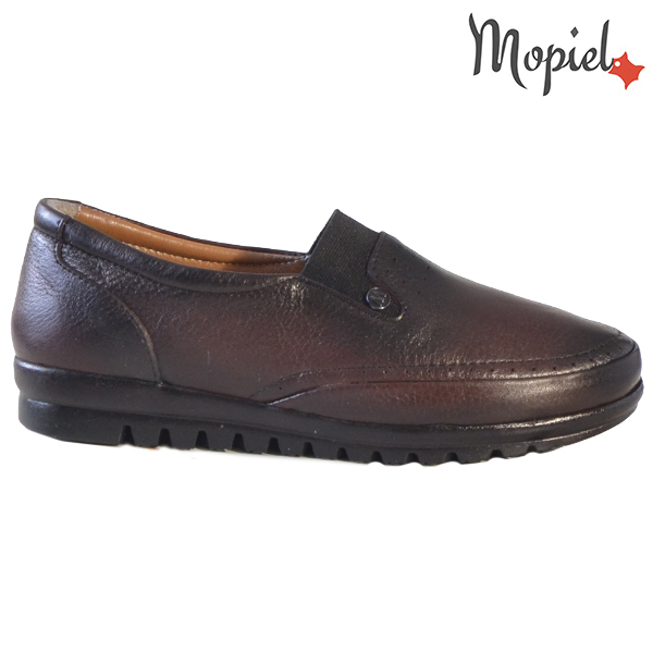 Pantofi dama, din piele naturala 231122 Bordo Fina