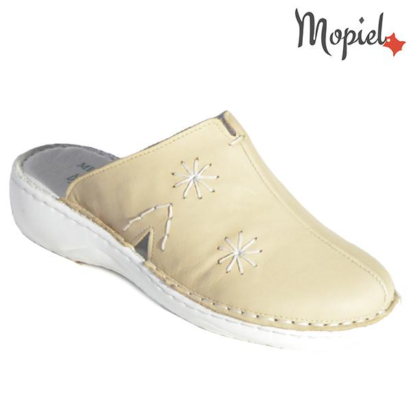 Papuci medicinali din piele naturala 261701 Bej Arabela incaltaminte dama