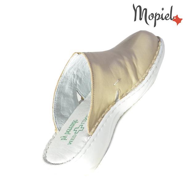 Papuci medicinali din piele naturala 261701 Bej Arabela incaltaminte ieftina