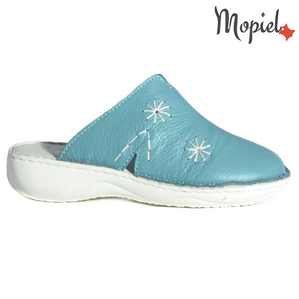 Papuci medicinali din piele naturala 261701 Turcoaz Arabela