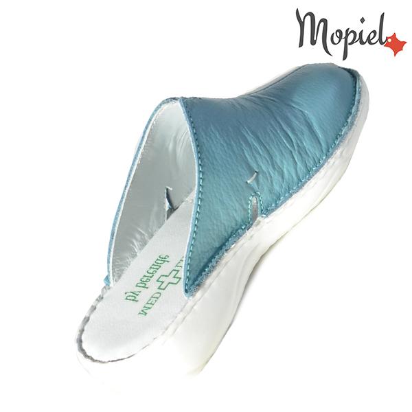 Papuci medicinali din piele naturala 261701 Turcoaz Arabela incaltaminte piele