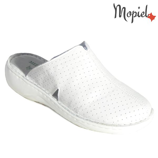 Papuci medicinali din piele naturala 261702 Alb Arabela incaltaminte dama