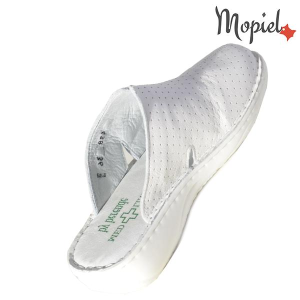 Papuci medicinali din piele naturala 261702 Alb Arabela incaltaminte ieftina