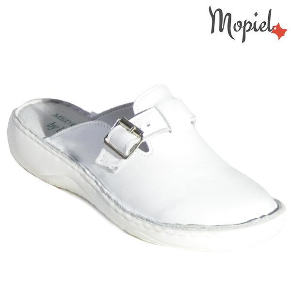 Papuci medicinali din piele naturala 261703 Alb Arabela incaltaminte dama