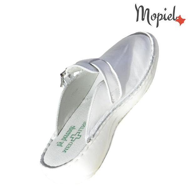 Papuci medicinali din piele naturala 261703 Alb Arabela incaltaminte online