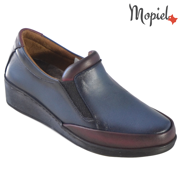 Pantofi dama, din piele naturala 231124 Bleumarin-Visiniu Jade incaltaminte dama
