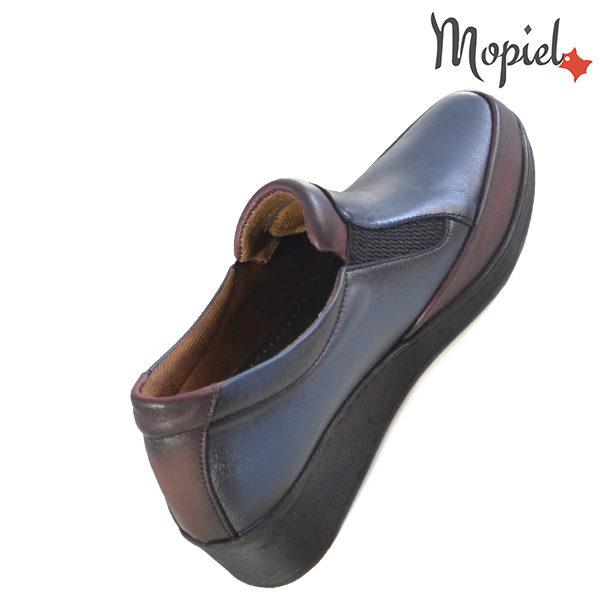Pantofi dama, din piele naturala 231124 Bleumarin-Visiniu Jade incaltaminte online