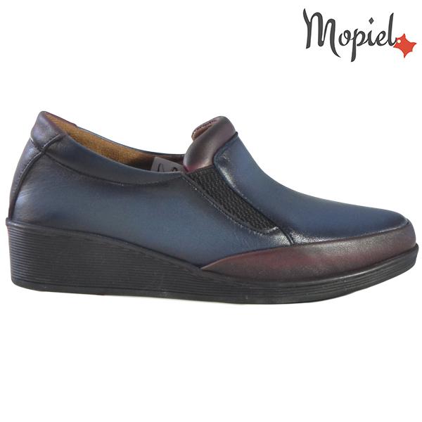 Pantofi dama, din piele naturala 231124 Bleumarin-Visiniu Jade