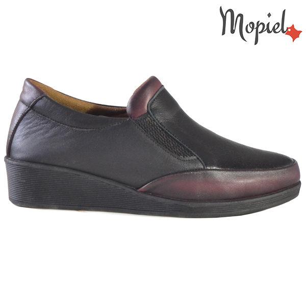 Pantofi dama, din piele naturala 231124 Negru-Visiniu Jade
