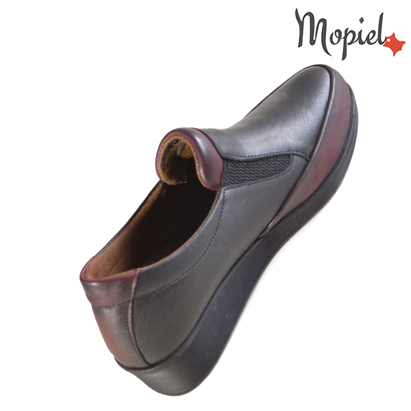 Pantofi dama, din piele naturala 231124 Negru-Visiniu Jade incaltaminte ieftina