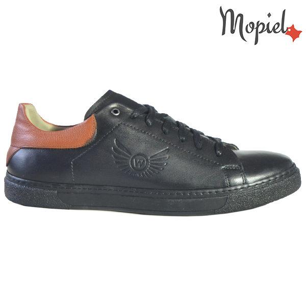Pantofi barbati, din piele naturala U1320216 Negru Clement