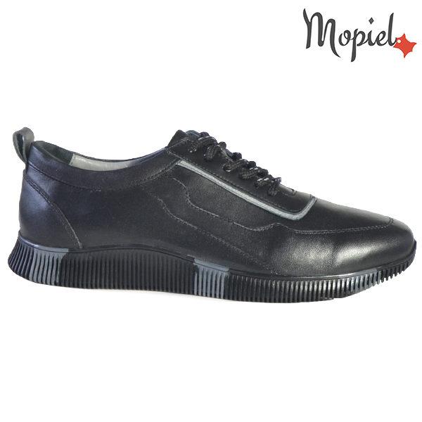 Pantofi barbati, din piele naturala U1320217 Negru - Gri Costa