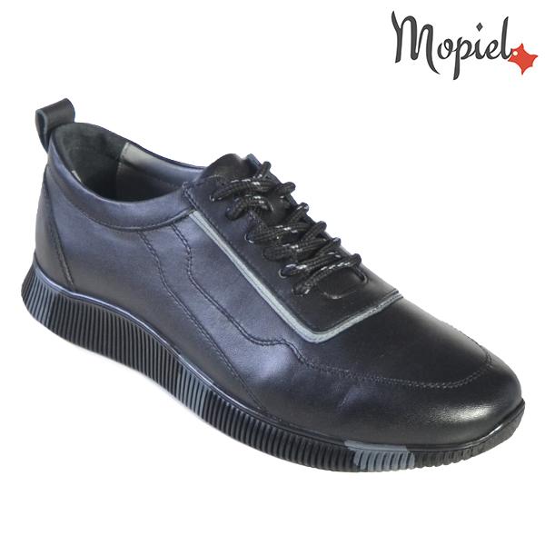 Pantofi barbati, din piele naturala U1320217 Negru - Gri Costa incaltaminte online