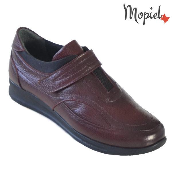 Pantofi dama din piele naturala 2320210 Visiniu Sofia incaltaminte dama