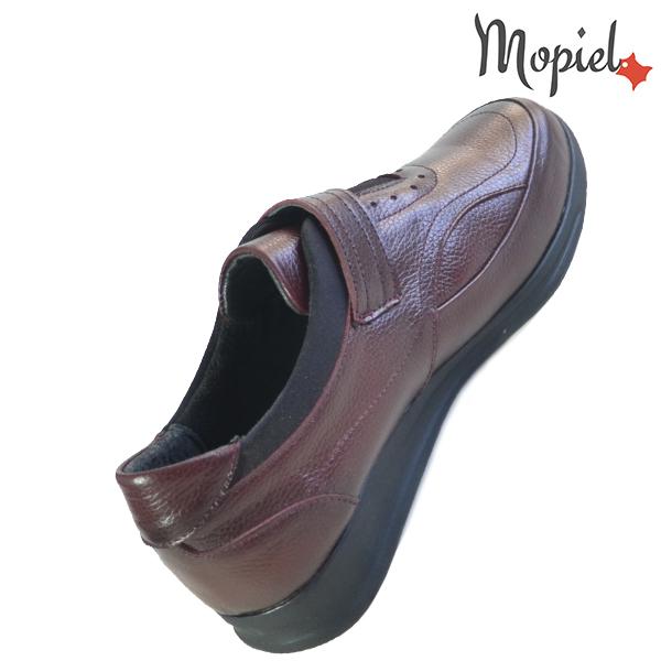 Pantofi dama din piele naturala 2320210 Visiniu Sofia incaltaminte ieftina
