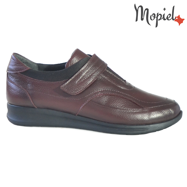 Pantofi dama din piele naturala 2320210 Visiniu Sofia  - Pantofi dama din piele naturala 2320210 Visiniu Sofia - Pantofii Oxford