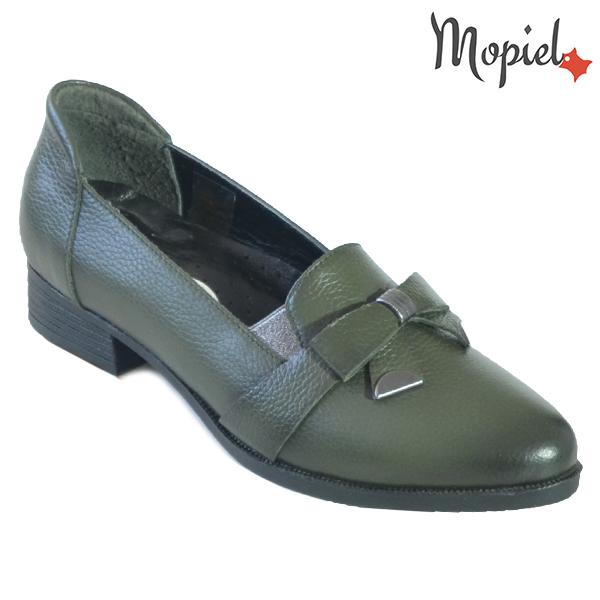 Pantofi dama din piele naturala 2320212 Verde Ilinca incaltaminte dama