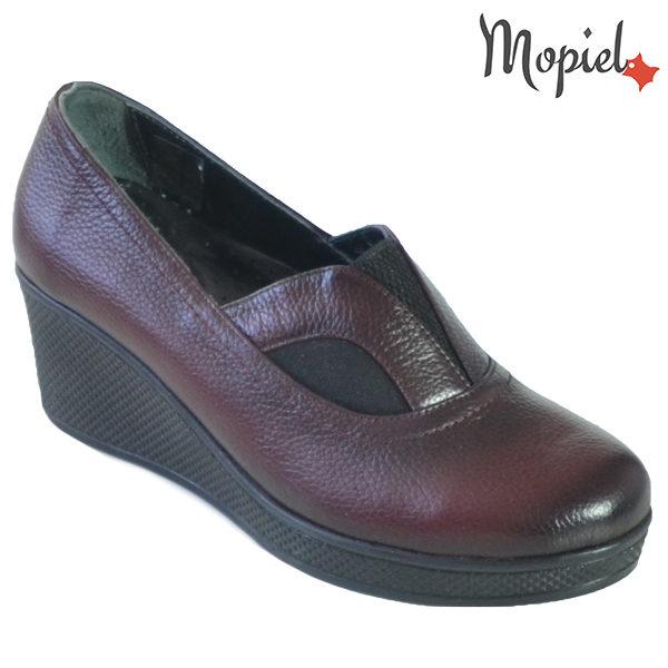Pantofi dama din piele naturala 2320213 Visiniu Paula incaltaminte dama