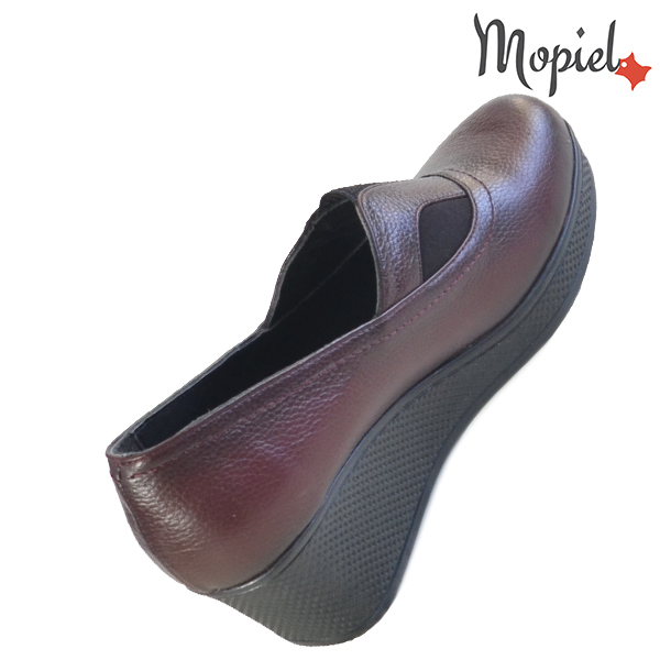 Pantofi dama din piele naturala 2320213 Visiniu Paula incaltaminte ieftina