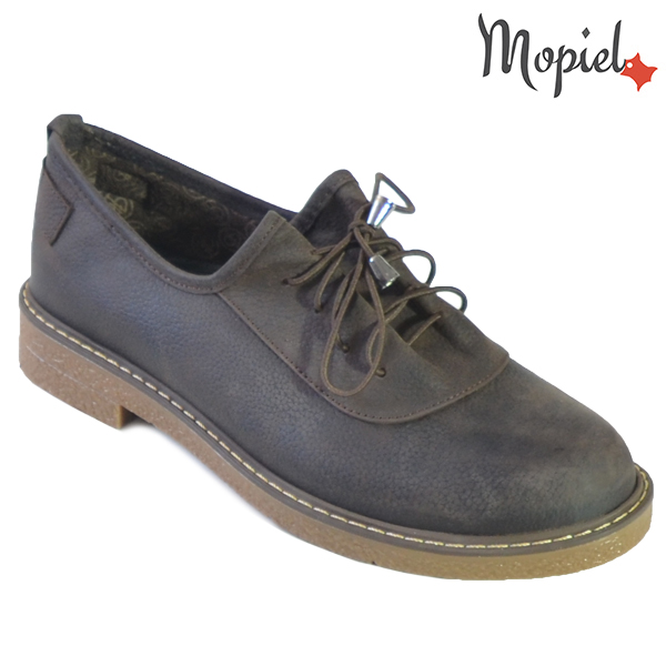 Pantofi dama din piele naturala 2320219 Maro Zoe incaltaminte dama