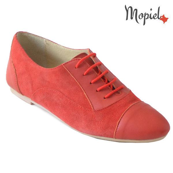 Pantofi dama din piele naturala 23308 Rosu Christa incaltaminte dama