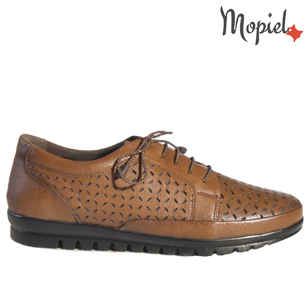 Pantofi dama din piele naturala 238303 Maro Mari