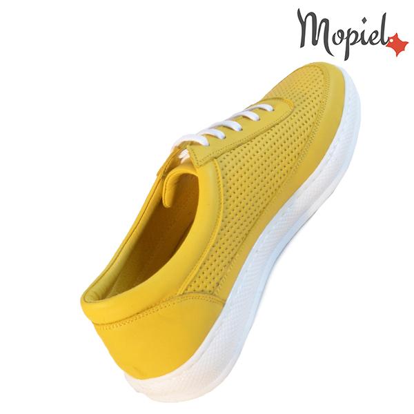 Pantofi dama, din piele naturala 202101 18-SP861 Galben Jessica incaltaminte piele