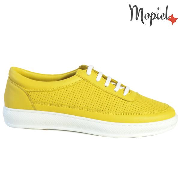 Pantofi dama, din piele naturala 202101 18-SP861 Galben Jessica
