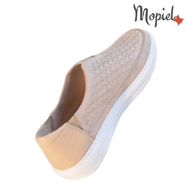 Pantofi dama, din piele naturala 202102 18-SP864 Bej Jessica incaltaminte ieftina