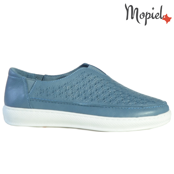 Pantofi dama, din piele naturala 202102 18-SP864 Blue Jessica