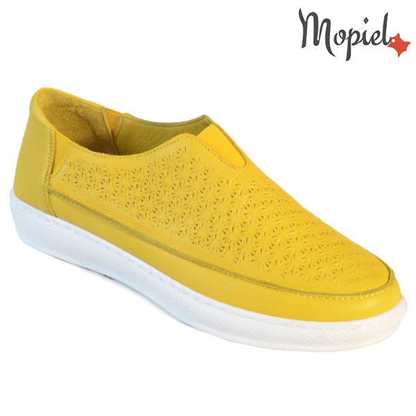Pantofi dama, din piele naturala 202102 18-SP864 Galben Jessica incaltaminte dama