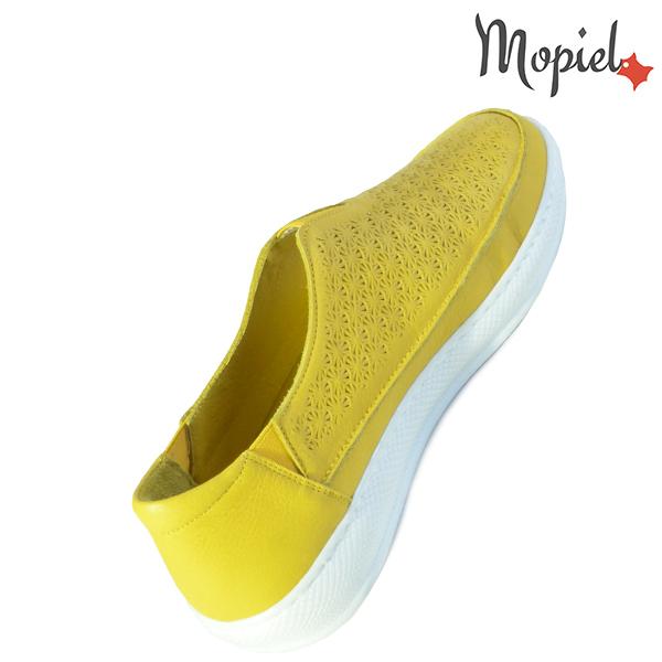 Pantofi dama, din piele naturala 202102 18-SP864 Galben Jessica incaltaminte piele