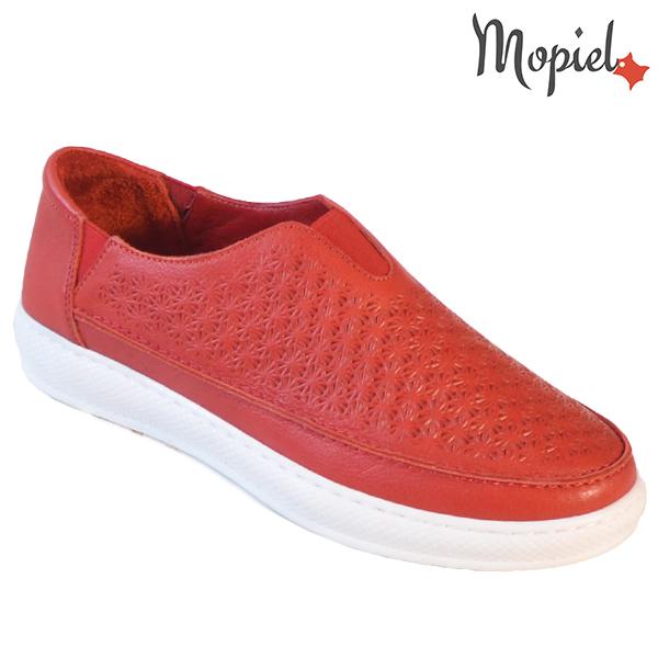 Pantofi dama, din piele naturala 202102 18-SP864 Rosu Jessica incaltaminte dama