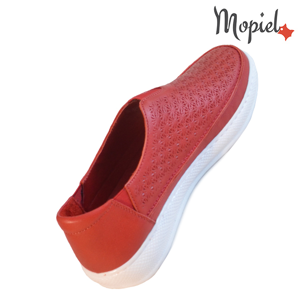 Pantofi dama, din piele naturala 202102 18-SP864 Rosu Jessica incaltaminte online