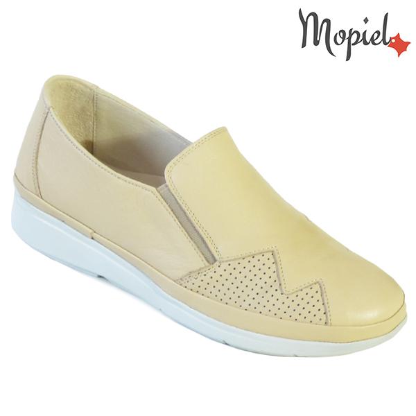 Pantofi dama, din piele naturala 202103 03-4506 Bej Carmen incaltaminte dama