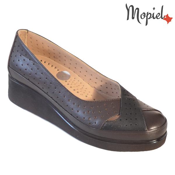 Pantofi dama, din piele naturala 202104 Maro-Sidef Eliza incaltaminte dama