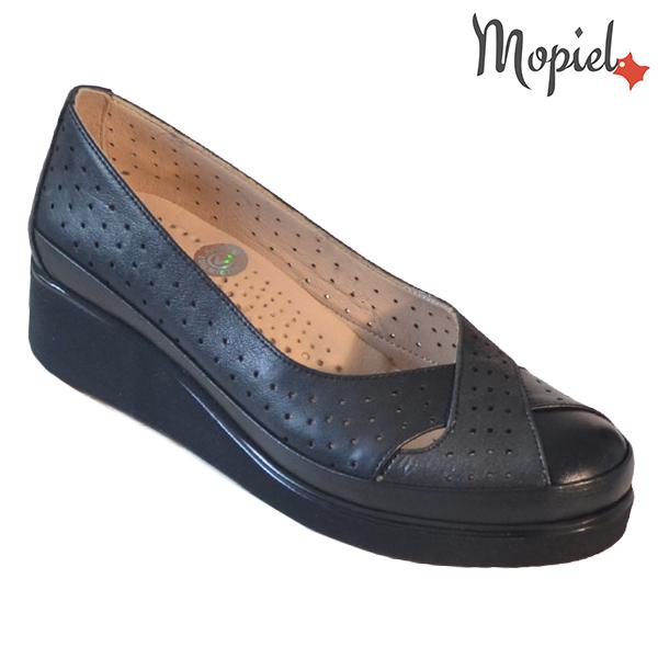 Pantofi dama, din piele naturala 202104 Negru-Sidef Eliza incaltaminte dama