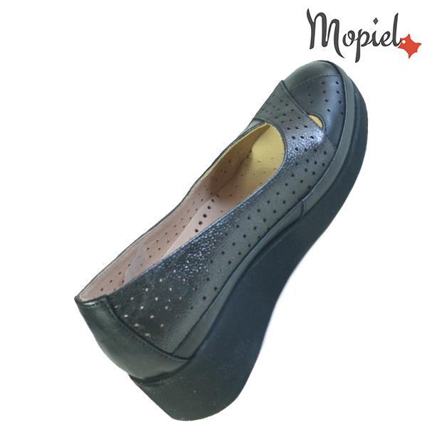 Pantofi dama, din piele naturala 202104 Negru-Sidef Eliza incaltaminte ieftina