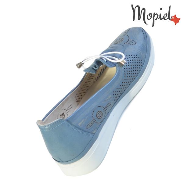 Pantofi dama, din piele naturala 202105 03-45019 Blue Vero incaltaminte ieftina